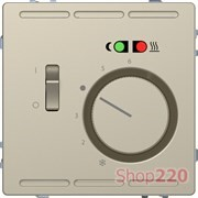 Терморегулятор для теплого пола с датчиком, сахара, Merten MTN5764-6033