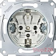 Розетка электрическая с заземлением, Merten MTN2300-0000