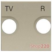 Накладка розетки TV+R, шампань, Zenit ABB N2250.8 CV
