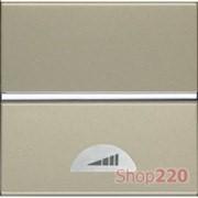 Диммер кнопочный 500Вт для ламп накаливания, шампань, Zenit ABB N2260.1 CV