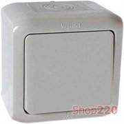 Выключатель IP44 универсальный, серый, 782383 Legrand Forix