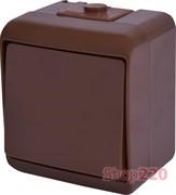 Выключатель 1-клавишный накладной, коричневый, IP 54 Hermetics ETI 4668040