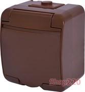 Розетка накладная, коричневый, IP 54 Hermetics ETI 4668050