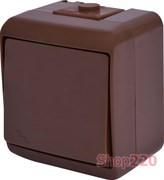 Выключатель проходной накладной, коричневый, IP 54 Hermetics ETI 4668042