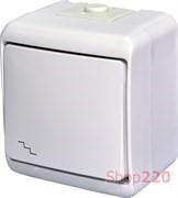Выключатель проходной с подсветкой, накладной, белый, IP 54 Hermetics ETI 4668009