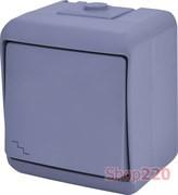 Выключатель проходной накладной, серый, IP 54 Hermetics ETI 4668062
