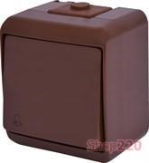"""Кнопка """"Звонок"""" накладная, коричневый, IP 54 Hermetics ETI 4668043"""