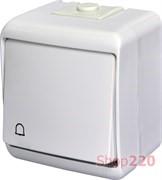 """Кнопка """"Звонок"""" с подсветкой, накладная, белый, IP 54 Hermetics ETI 4668010"""