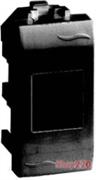 Розетка компьютерная RJ45 AMP 110 Connect экранированная, 1мод., черный, Brava ДКС 77647N