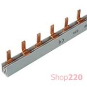 Гребенка двухполюсная для дифавтоматов, 12 модулей, 10389 Schneider Electric