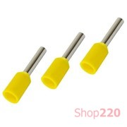 Наконечник-гильза 1,0 мм кв, желтый, Е1008 IEK UGN10-001-D14-08