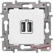 Розетка USB, белый, 672294 Legrand Etika
