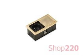 Врезная розетка в стол 220В, золото, Versahit Mono ASA 060.25F.00003