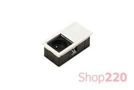 Врезная розетка в стол 220В, белый, Versahit Mono ASA 060.25F.00008