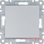 Выключатель одноклавишный, серебристый, Lumina WL0012 Hager