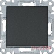 Выключатель одноклавишный, черный, Lumina WL0013 Hager