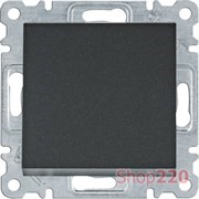 Выключатель крестовой, черный, Lumina WL0033 Hager