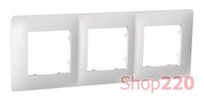 Рамка тройная CLASSIC, белый, PLK1030031 Plank Electrotechnic