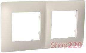 Рамка двойная CLASSIC, слоновая кость, PLK1020131 Plank Electrotechnic