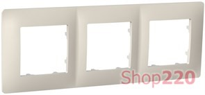 Рамка тройная CLASSIC, слоновая кость, PLK1030131 Plank Electrotechnic