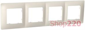 Рамка четвертная CLASSIC, слоновая кость, PLK1040131 Plank Electrotechnic