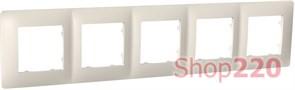 Рамка пятерная CLASSIC, слоновая кость, PLK1050131 Plank Electrotechnic