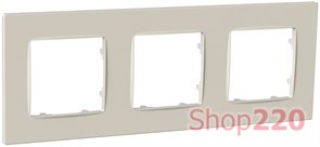 Рамка тройная NORDIC, слоновая кость, PLK1030132 Plank Electrotechnic