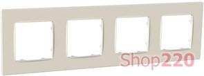 Рамка четвертная NORDIC, слоновая кость, PLK1040132 Plank Electrotechnic