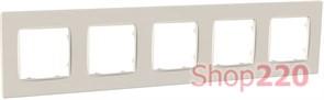 Рамка пятерная NORDIC, слоновая кость, PLK1050132 Plank Electrotechnic