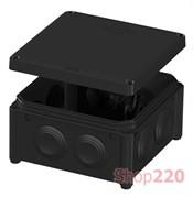 Распределительная коробка 100 х 100 х 50 мм, черный, IB006 Vintage, Plank PLK6506550