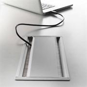 Лючок в стол, черный, Exit dual ASA 040.024.00007