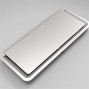 Пластиковый лючок в стол, алюминий, Exit light ASA 040.026.00001