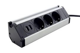 Угловая мебельная розетка с USB, ElectroHouse EH-AR-307