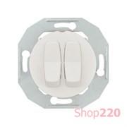 Выключатель двухклавишный, белый, Renova WDE011016 Schneider