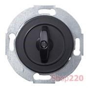 Выключатель поворотный проходной, черный, Renova WDE011268 Schneider