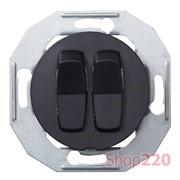 Выключатель проходной двухклавишный, черный, Renova WDE011226 Schneider