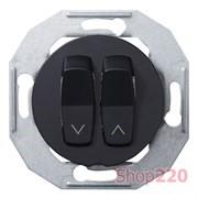 Выключатель жалюзи, черный, Renova WDE011254 Schneider