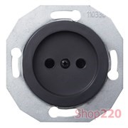 Розетка без заземления, черный, Renova WDE011301 Schneider