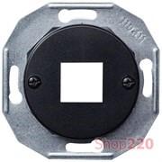 Корпус компьютерной розетки, черный, Renova WDE011702 Schneider