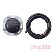 Терморегулятор для теплого пола, черный, Renova WDE011625 Schneider