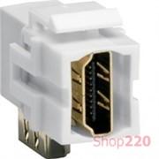Разъем HDMI угловой типа KeyStone, VZ20HA Hager