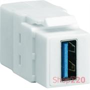 Разъем USB 3.0 типа KeyStone, VZ30US Hager