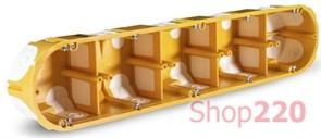 Подрозетник пятерной для гипсокартона с ПВХ вводами, KPL64-50/5LDNA Kopos