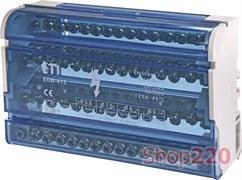 Блок распределительный на din-рейку 125А, 4 полюса, EDB-415 ETI 1102305