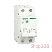 Автоматический выключатель 6А, 2 полюса, уставка В, Resi9 R9F02206 Schneider Electric