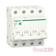 Автоматический выключатель 25А, 4 полюса, уставка В, Resi9 R9F02425 Schneider Electric