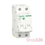 Автоматический выключатель 20А, 2 полюса, уставка В, Resi9 R9F02220 Schneider Electric