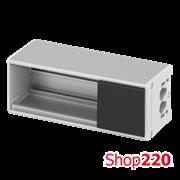 Розеточный блок на 2 (3) розетки К45, пустой, алюминий, Ofiblock COMPACT Simon KFC102/14