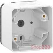 Коробка для накладного монтажа IP55, белый, Mureva Styl Schneider MUR39911