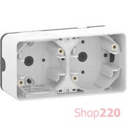 Коробка двойная для накладного монтажа IP55, белый, Mureva Styl Schneider MUR39914
